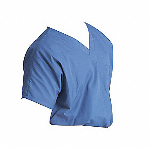 Scrub Shirt,L,Ceil Blue,4.25 oz.