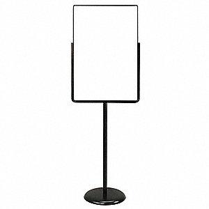 united visual products sign holder pedestal 24x36 metal black