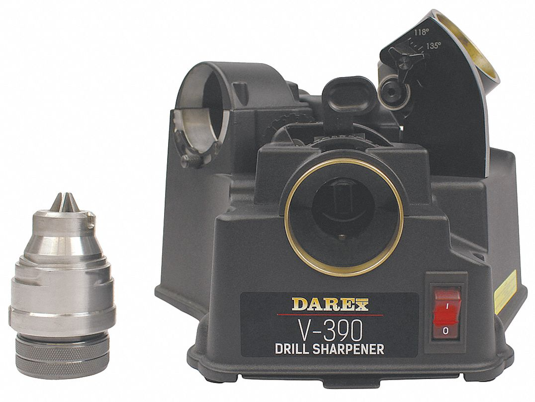 Drill Bit/End Mill Sharpener,  Mounting Type Benchtop,  Point Angle Sharpened 118°to 140°