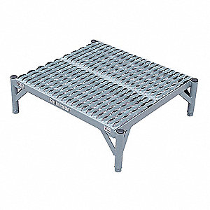 Work Platform, Steel, Quad Access Platform Style, 16 ft. Platform Height