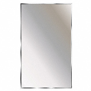 "Theftproof, Channel Framed 22""H x 16""W Washroom Mirror"