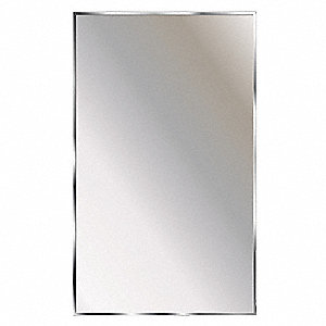 "Theftproof, Channel Framed 24""H x 18""W Washroom Mirror"