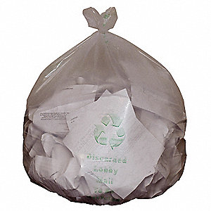45 gal. Super Heavy Trash Bags, Clear, Flat Pack of 100