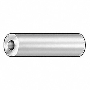 Round,  Spacer,  Aluminum,  1/4 in Outside Dia.,  PK 10