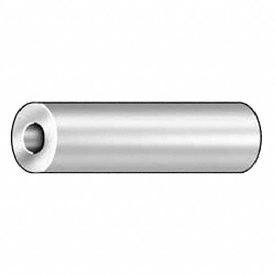 Round,  Spacer,  Aluminum,  1/2 in Outside Dia.,  PK 10