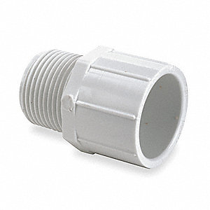 "PVC Adapter, MNPT x Socket, 1-1/4"" x 1-1/4"" Pipe Size"