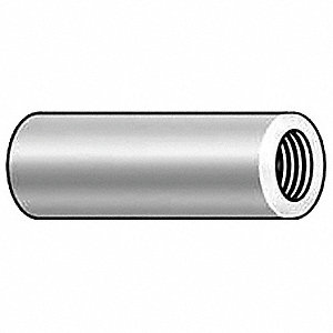 "1/4"" Aluminum Round Standoff with Plain Finish; PK10"