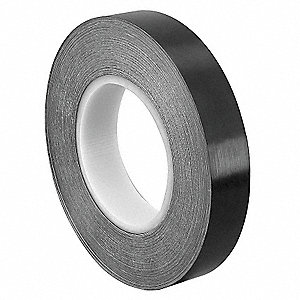 "Polyethylene Film Tape Adhesive, 10.00 mil Thick, 1"" X 36 yd., Black, 1 EA"