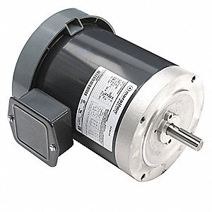 1/2 HP General Purpose Motor,3-Phase,1140 Nameplate RPM,Voltage 208-230/460,Frame 56C