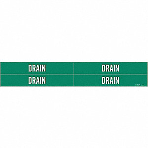 "Pipe Marker, 1-1/8""H, 7""W, PK4"