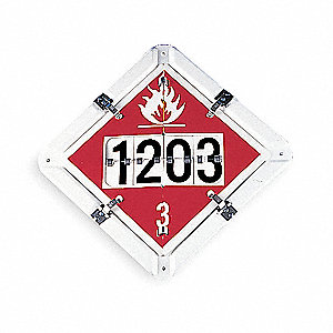 Vehicle Placard, 5 Legends, Aluminum