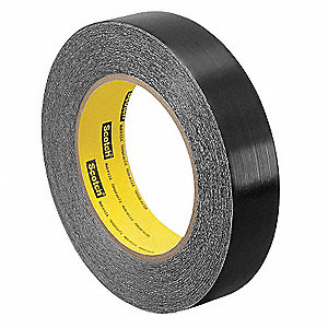 "Black Polyethylene Squeak Reduction Tape, 12"" Width, 36 yd. Length, 6.5 mil Thickness"