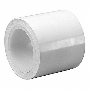 "White Polyethylene Film Tape, 1"" Width, 5 yd. Length, 9 mil Thickness"