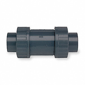 "2"" Ball Check Valve, PVC, Socket Connection Type"