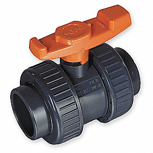 BALL VALVE,4 IN SOCKET,PVC,FULL POR