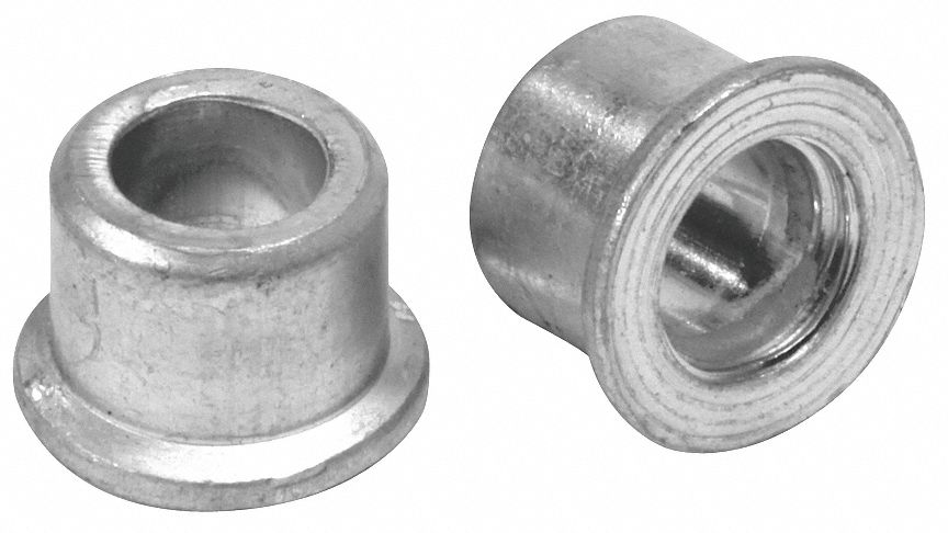 Steel Lockbolt Collar, Standard Flange, 1/4 in Rivet Dia.