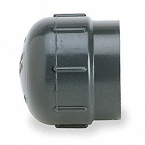 CAP,1/2 IN,NPT,PVC