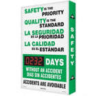 Safety Is The Priority Quality Is The Standard/La Seguridad Es La Prioridad La Calidad Es El Estandar ___ Days Without An Accident/Dias Sin Accidentes/Accidents Are Avoidable Safety Scoreboards