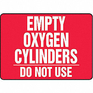 Notice Sign,10 x 14In,WHT/R,AL,ENG,Text