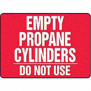 Notice Sign,10 x 14In,WHT/R,PLSTC,ENG