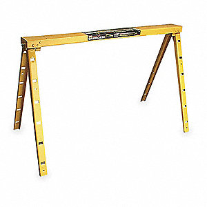Adjustable Sawhorse,1200 Lbs Hold Cap