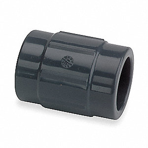 "Schedule 80 CPVC Coupling, 1-1/4"" Pipe Size, FNPT Fitting Connection Type"