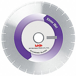 "12"" Wet Diamond Saw Blade, Segmented Rim Type"