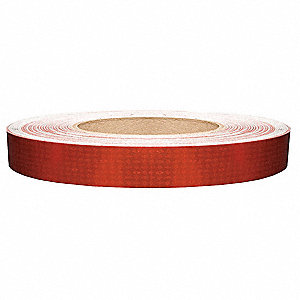 Reflective Tape, W 1 In, Red,