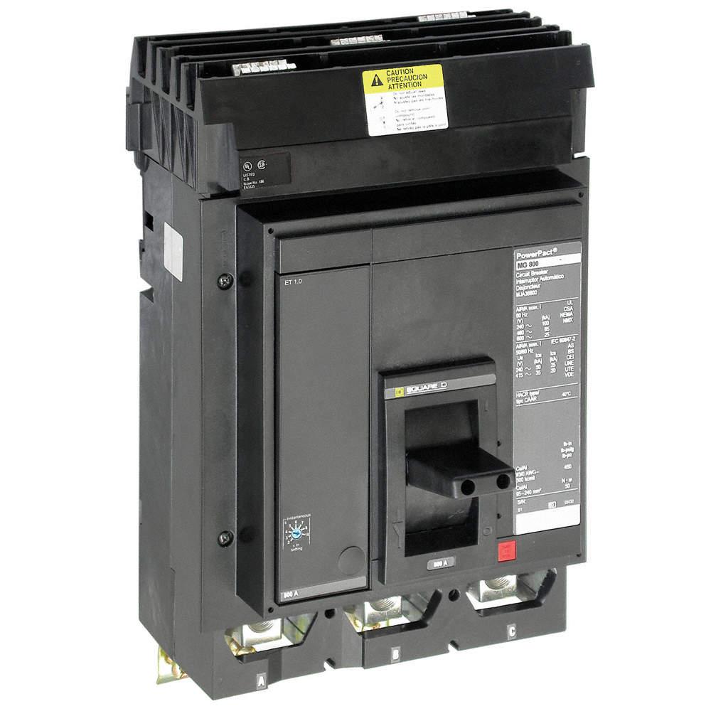 SQUARE D Circuit Breaker, 450 Amps, Number of Poles: 3, 600VAC AC ...
