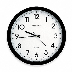 Analog Clock,15 In,Black