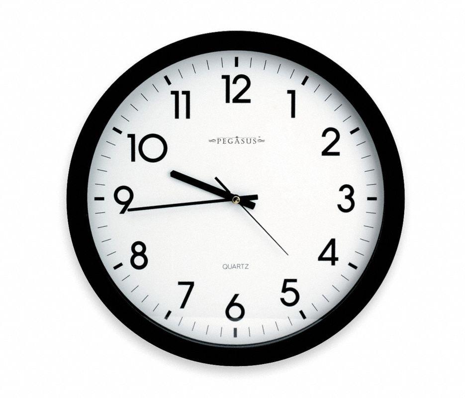 Analog Clock,15 In,Black