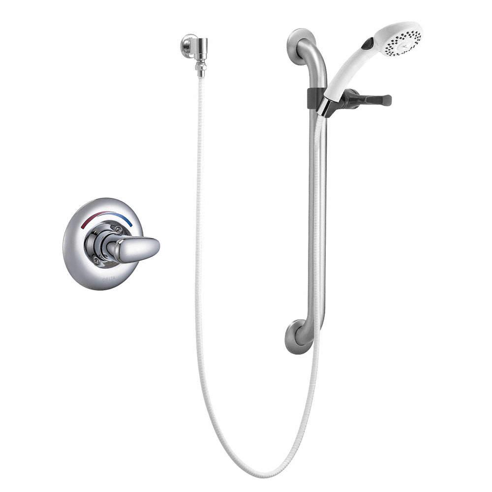 DELTA Metal Handheld Shower Head Kit, 1.50 gpm, 1/2\