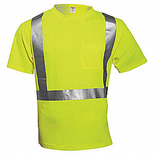 Hi-Vis T-Shirt,Short Sleeve,Lime,XL