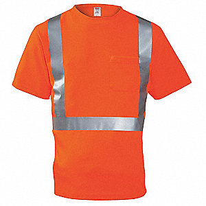 Hi-Vis T-Shirt, Short Sleeve, Orange, S