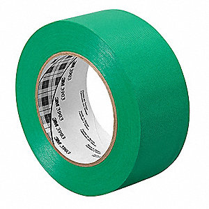 Duct Tape,1-1/2 In x 50 yd,6.5 mil,Green