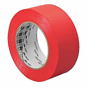 "Light-Duty Duct Tape, 4"" X 50 yd., 6.30 mil Thick, Red Vinyl, 1 EA"