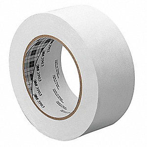 "Light-Duty Duct Tape, 1-1/2"" X 50 yd., 6.30 mil Thick, White Vinyl, 1 EA"