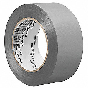 "Light-Duty Duct Tape, 4"" X 50 yd., 6.50 mil Thick, Gray Vinyl, 1 EA"