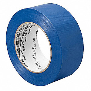 "Light-Duty Duct Tape, 1"" X 50 yd., 6.30 mil Thick, Blue Vinyl, 1 EA"