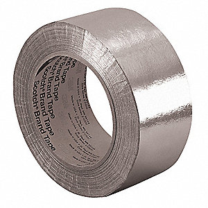 Glass Foil Tape,2 In. x 36 Yd.,Silver