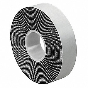 "Foam Tape, Acrylic Tape Adhesive, 3/4"" X 5 yd., Continuous Roll, Black"