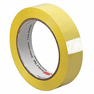 "Yellow Polyester Electrical Tape, 1/4"" Width, 72 yd. Length, 1 mil Thickness"