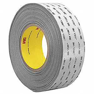 "Acrylic Foam Double Sided VHB Foam Tape, Acrylic Adhesive, 45.00 mil Thick, 6"" X 18 yd., Gray"