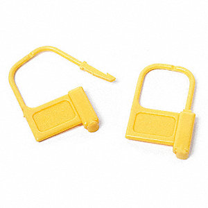 Fixed Length Seals, Plastic, Yellow, 1-1/2""