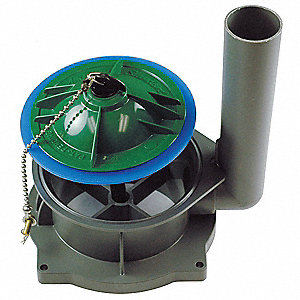 Plastic and Rubber Flush Valve, Gray/Green, For Use With Champion 4 Tanks, Bolted