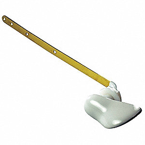 Plastic Trip Lever, White, For Use With American Standard Tanks, For Use With Grainger Item Number 1