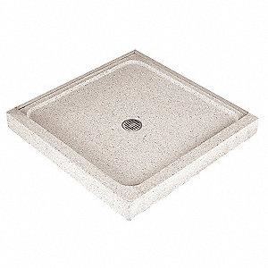 "36"" x 36"" x 4"" Double Threshold Unit Terrazzo Shower Floor"