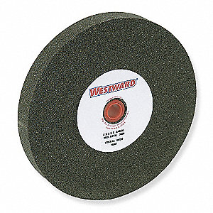 "8"" Straight Grinding Wheel, 1"" Thickness, 1"" Arbor Size, Bench/Pedestal, Aluminum Oxide, EA1"