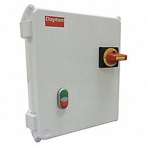 120VAC Push Button IEC Combination Starter, 4X Enclosure NEMA Rating, Amps AC: 4 to 6.3