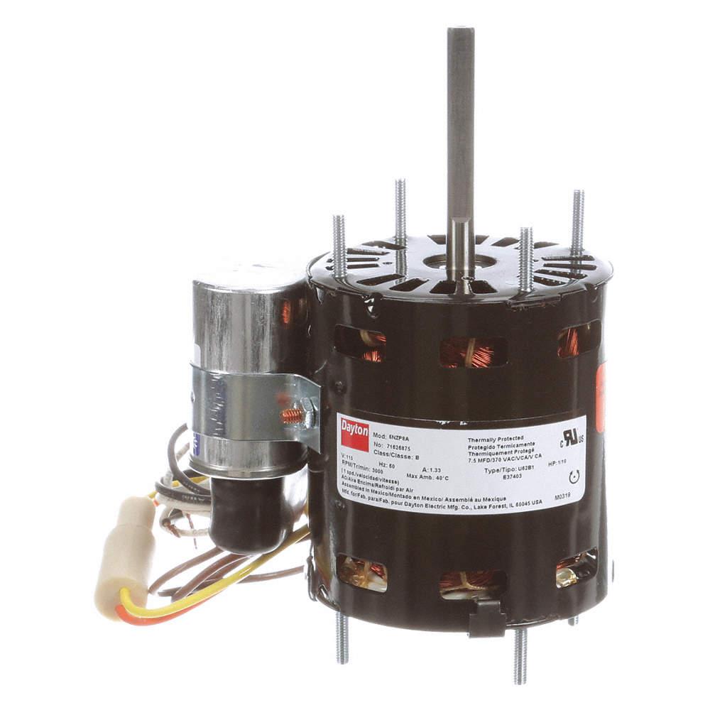 DAYTON 71214608M HVAC Motor,1//50 HP,3000 rpm,115V,3.3